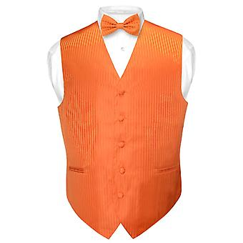 Mäns klänning Vest & BOWTie vertikal randig Design fluga inställd
