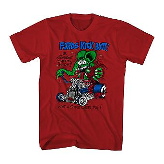 Rat Fink Fords Kick Butt Men's Red T-shirt