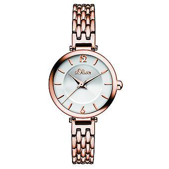 s.Oliver damer wrist watch analog quartz IP Rosé SO-15100-MQR
