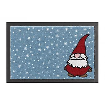 Doormat dirt trapping pad Christmas IMP dwarf blue red 40 x 60 cm