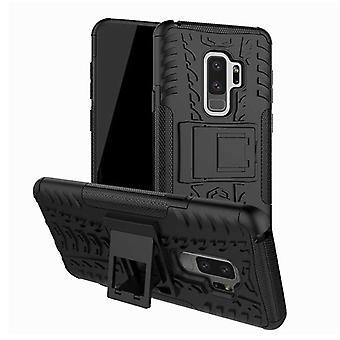 Hybrid fall 2 bit SWL utomhus svart för Samsung Galaxy S9 G960F väska täcker