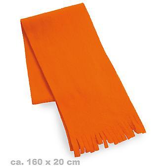 Echarpe peluche neon Orange 80 s