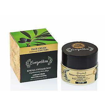 Idratante e nutriente tradizionale Aloe Vera crema per il viso.