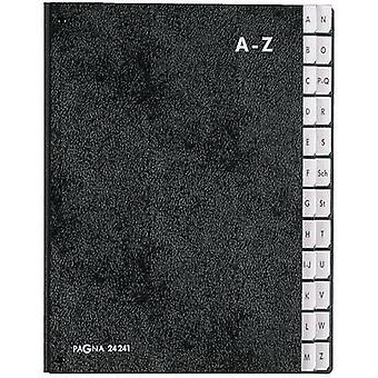 PAGNA Desk folder 24241-04 Rigid cardboard Black A4 No. of compartments: 24 A-Z