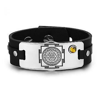 Sri Yantra Chakra energii magiczny Amulet Tygrys oczu regulowana bransoletka kamień szlachetny