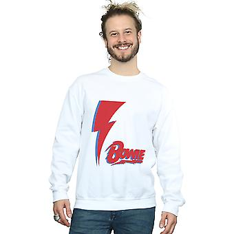 David Bowie Men's Red Bolt Sweatshirt