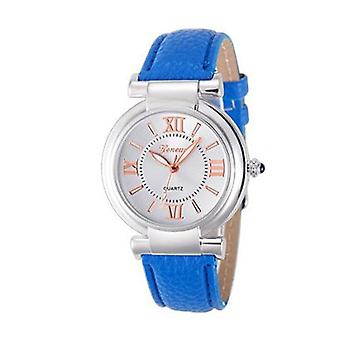 Ladies Girls Analogue Smart Rose Gold Silver Watch Watches Kids Blue Strap UK Seller