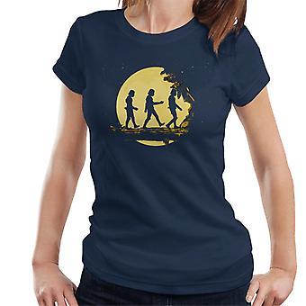 T-shirt originale Stormtrooper foresta al chiaro di luna donna