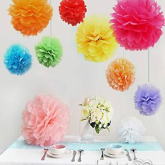 10PCS MIXED COLOUR PAPER POM POMS 10CM