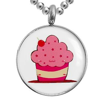 Stainless Steel Pendant With Chain, Jewellery, Cupcake