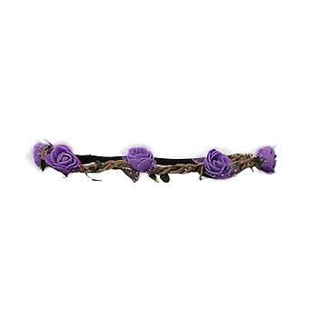 Hårband Blomster - Purple