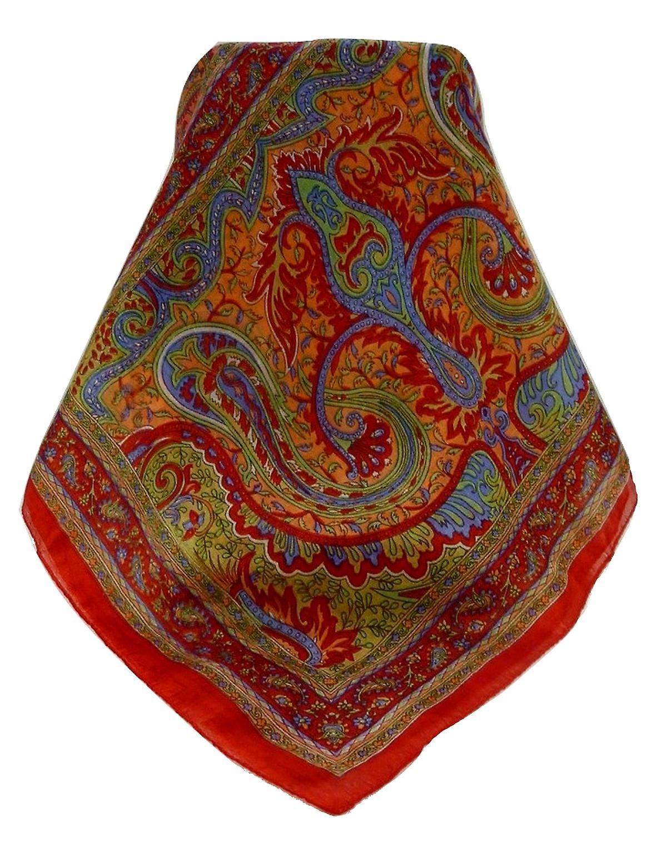 Mulberry Silk Traditional Long Scarf Ramnagar Scarlet by Pashmina & Silk