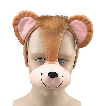 Aap masker op hoofdband + geluid.
