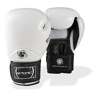 Branco de luvas de boxe Performer bytomic V4