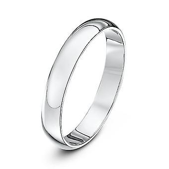 Star Wedding Rings Palladium 500 Heavy D 3mm Wedding Ring
