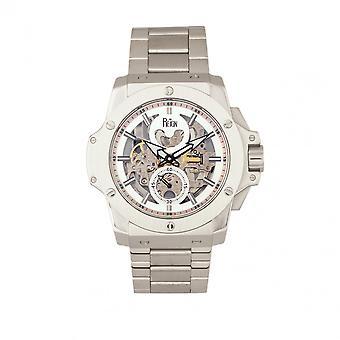 Reign Commodus Automatic Skeleton Bracelet Watch - Silver
