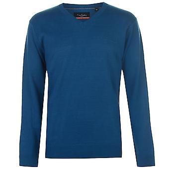 Pierre Cardin Mens Jumper Knit Blouse Pullover Long Sleeve V Neck Top