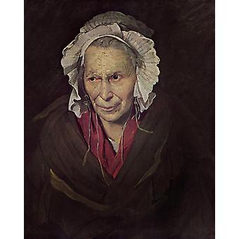 The Madwoman, Theodore Gericault, 50x40cm