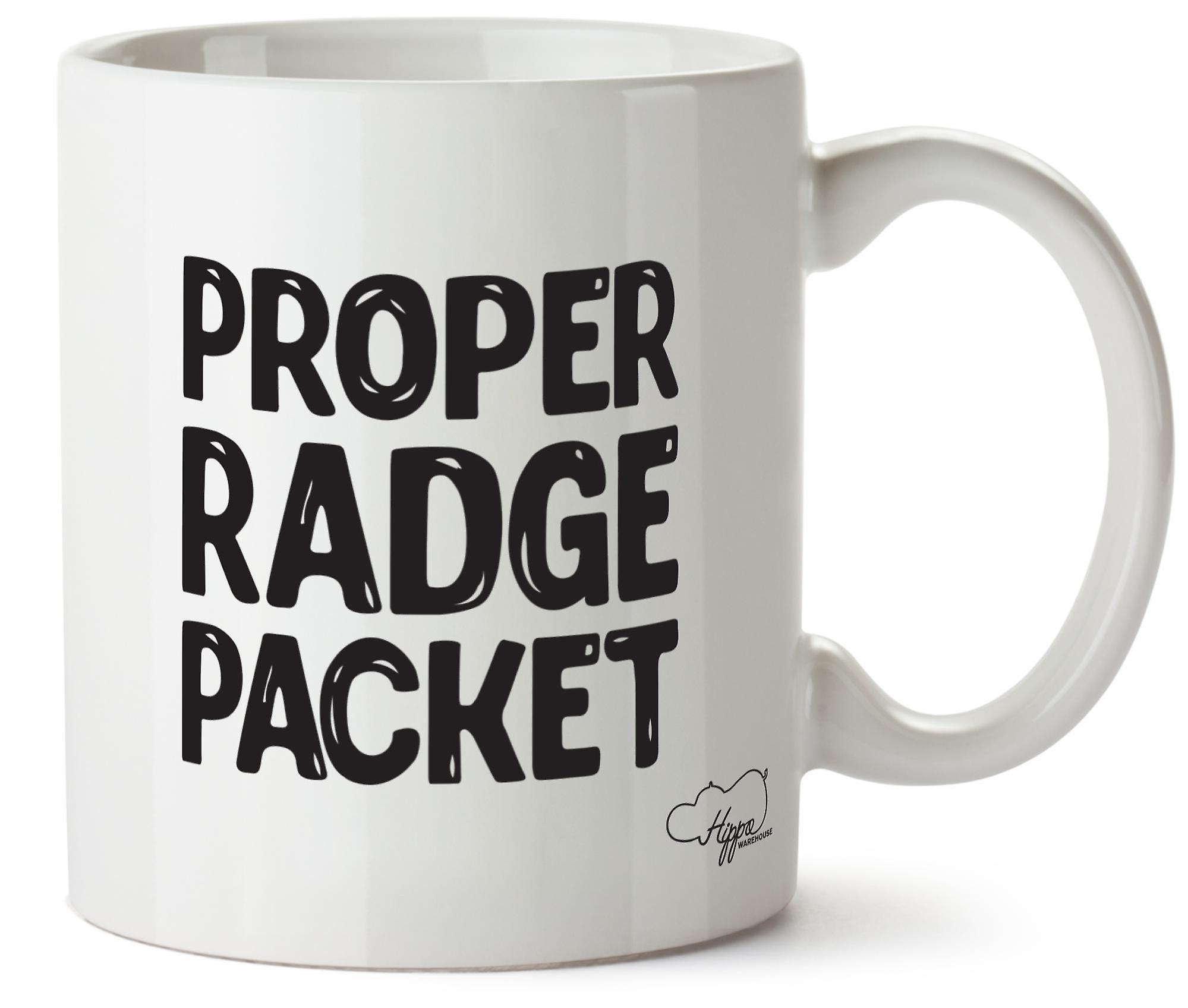 Женские Radge пакетов Hippowarehouse надлежащего напечатаны Кубка керамическая кружка 10oz