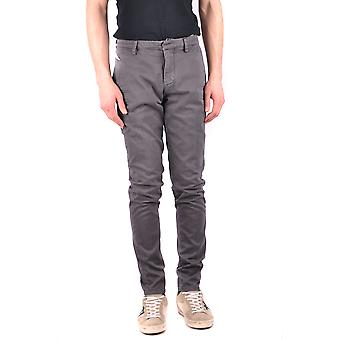 Dondup Ezbc051081 Men's Grey Cotton Pants