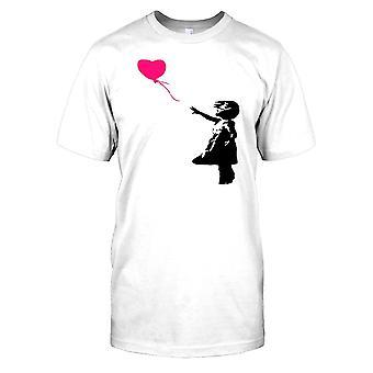 Banksy - menina com balão vermelho - artista urbano Mens T-Shirt