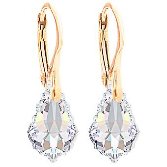 Ah! Jewellery 24K Gold Vermeil Over Sterling Silver Aurore Boreale Crystals From Swarovski Baroque Earrings