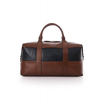 Ted Baker Mens Elton Striped Leather Holdall