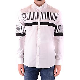 Les Hommes Urban Ezbc260008 Men's White Cotton Shirt