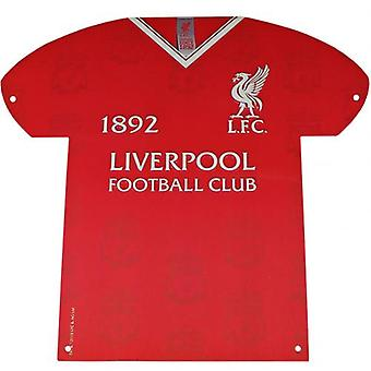Liverpool Metal Shirt Sign LB