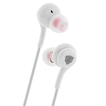 Inkax in-Ear Headphones Headset Microphone + Remote Control - White