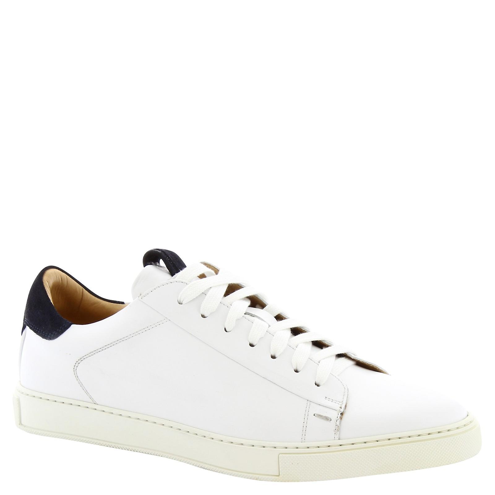 Leonardo Shoes 7729tomfranchbianco Men-apos;s White Leather Sneakers - Remise particulière