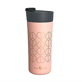 Beau and Elliot Grande Insulated Travel Mug, Blush