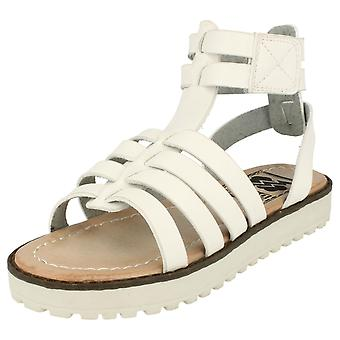 Girls Spot On Casual Sandals - White Synthetic - UK Size 2 - EU Size 34 - US Size 3