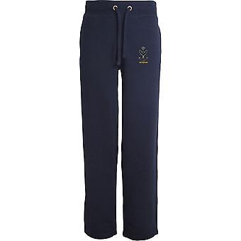 O veterano de Highlanders-licenciado British Army bordado aberto hem Sweatpants/jogging Bottoms