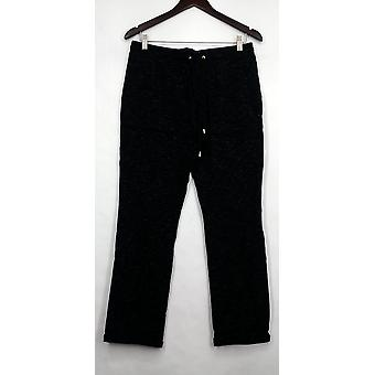 C. Wonder Pants Pull-On Lounge Pants w/ Tie Waist Black A275831