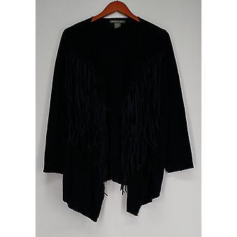 Kate & Mallory Sweater Cascade frente Cardigan w/chicote costura azul A427723