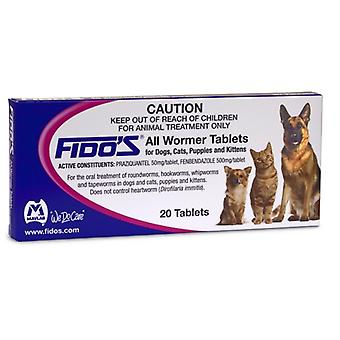 Fidos All Wormer Tab 10kg 20 apos;s Chien et Chat