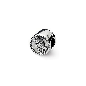 925 Sterling Plata Pulido Reflexiones Praying Hands Abalorios Encanto Colgante Collar regalos de joyería para las mujeres
