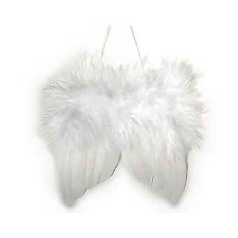 White Feather Christmas Angel Wings for Crafts - Pack of 2   Peg Doll Crafts