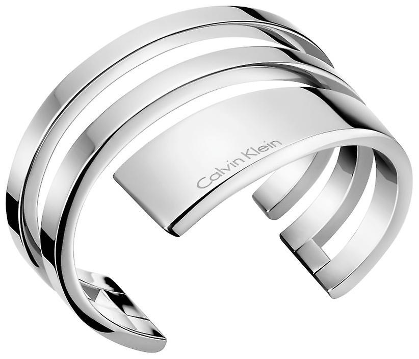 Calvin Klein Beyond Silver Stainless Steel Open Bangle KJ3UMF00010M