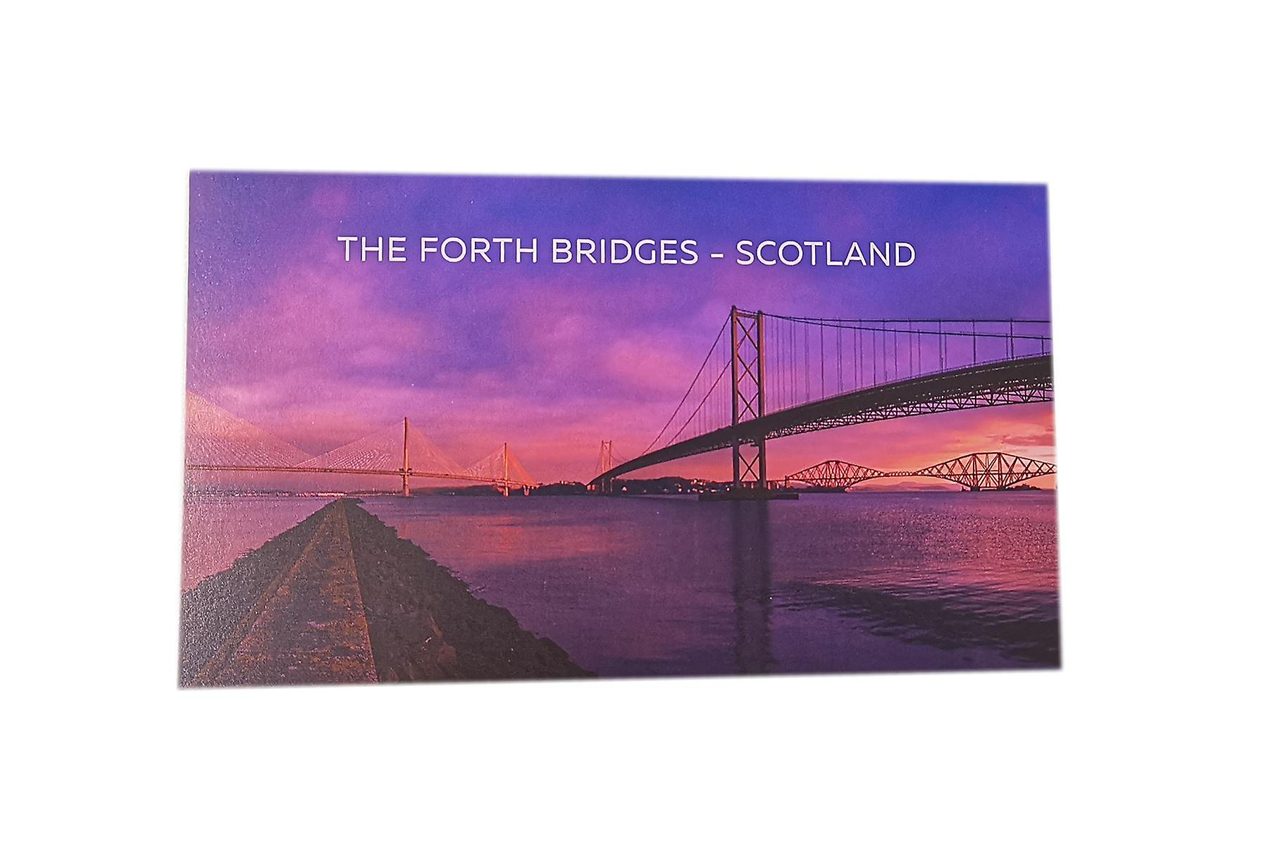 The Forth Bridges Postcard Sunrise