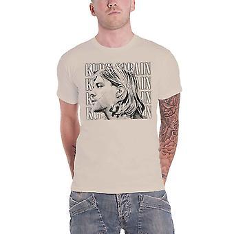 Kurt Cobain T Shirt Contrast Portrait Profile Logo Nirvana Official natural