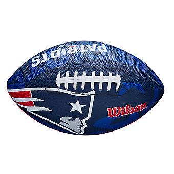 Wilson NFL Team Logo New England Patriots Junior Futbol Niebieski/Czerwony