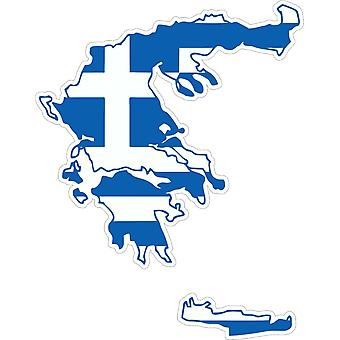 ملصق ملصقا Adhesif سيارة الفينيل العلم اليونانية بطاقة اليونانية
