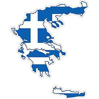 Pegatina Adhesif coche vinilo bandera griega tarjeta griega