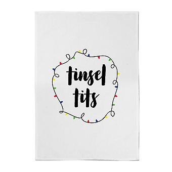 Tinsel T**s Cotton Tea Towel