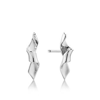 Ania Haie Sterling Silver Rhodium Plated Helix Stud Earrings E012-01H
