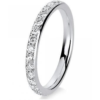 Diamantring-18K 750/-hvid guld-0,98 CT. Størrelse 54