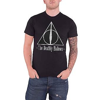 Harry Potter T Shirt The Deathly Hallows Emblem logo new Official Black Mens