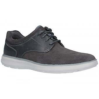 Rockport Zaden Mens Leather Casual Trainers Grey